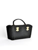 Surrey Vintage 1960s Black Box Handbag - Amarcord Vintage Fashion  - 4