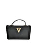 Surrey Vintage 1960s Black Box Handbag - Amarcord Vintage Fashion  - 1