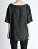 Vintage 1990s Distressed Black Silk Tiki Top - Amarcord Vintage Fashion  - 5