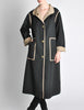 Bonnie Cashin for Russell Taylor Vintage Black & Tan Coat - Amarcord Vintage Fashion  - 5