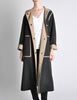 Bonnie Cashin for Russell Taylor Vintage Black & Tan Coat - Amarcord Vintage Fashion  - 2