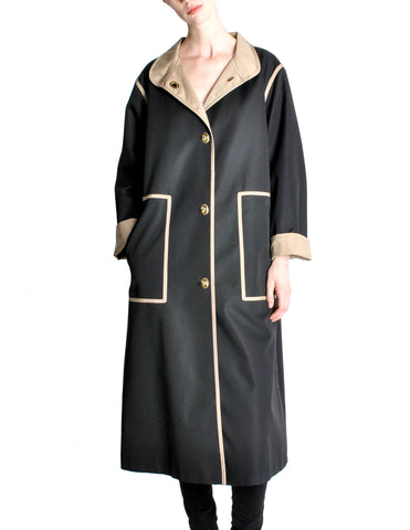 Bonnie Cashin for Russell Taylor Vintage Black & Tan Coat