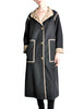 Bonnie Cashin for Russell Taylor Vintage Black & Tan Coat - Amarcord Vintage Fashion  - 1