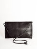 Bottega Veneta Vintage Black Intreciatto Woven Envelope Bag