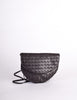 Bottega Veneta Vintage Intrecciato Black Woven Leather Crossbody Bag - Amarcord Vintage Fashion  - 2