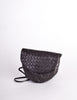 Bottega Veneta Vintage Intrecciato Black Woven Leather Crossbody Bag - Amarcord Vintage Fashion  - 3