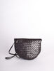 Bottega Veneta Vintage Intrecciato Black Woven Leather Crossbody Bag - Amarcord Vintage Fashion  - 4