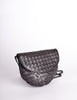 Bottega Veneta Vintage Intrecciato Black Woven Leather Crossbody Bag - Amarcord Vintage Fashion  - 5
