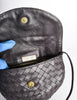 Bottega Veneta Vintage Intrecciato Black Woven Leather Crossbody Bag - Amarcord Vintage Fashion  - 8