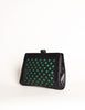 Bottega Veneta Vintage Intrecciato Blue & Green Woven Leather Clutch Bag - Amarcord Vintage Fashion  - 2