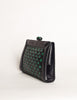 Bottega Veneta Vintage Intrecciato Blue & Green Woven Leather Clutch Bag - Amarcord Vintage Fashion  - 4