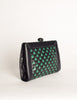 Bottega Veneta Vintage Intrecciato Blue & Green Woven Leather Clutch Bag - Amarcord Vintage Fashion  - 5