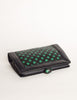 Bottega Veneta Vintage Intrecciato Blue & Green Woven Leather Clutch Bag - Amarcord Vintage Fashion  - 7