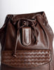Bottega Veneta Vintage Intrecciato Brown Woven Leather Backpack - Amarcord Vintage Fashion  - 5