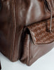Bottega Veneta Vintage Intrecciato Brown Woven Leather Backpack - Amarcord Vintage Fashion  - 4