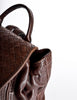 Bottega Veneta Vintage Intrecciato Brown Woven Leather Backpack - Amarcord Vintage Fashion  - 7