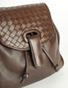 Bottega Veneta Vintage Intrecciato Brown Woven Leather Mini Backpack - Amarcord Vintage Fashion  - 4