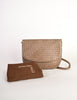 Bottega Veneta Vintage Intrecciato Mushroom Brown Woven Leather Shoulder Bag - Amarcord Vintage Fashion  - 11