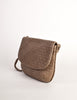 Bottega Veneta Vintage Intrecciato Mushroom Brown Woven Leather Shoulder Bag - Amarcord Vintage Fashion  - 3