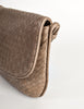 Bottega Veneta Vintage Intrecciato Mushroom Brown Woven Leather Shoulder Bag - Amarcord Vintage Fashion  - 4