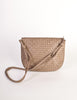 Bottega Veneta Vintage Intrecciato Mushroom Brown Woven Leather Shoulder Bag - Amarcord Vintage Fashion  - 6