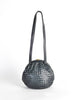 Bottega Veneta Vintage Intrecciato Navy Blue Woven Leather Bag - Amarcord Vintage Fashion  - 3