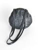 Bottega Veneta Vintage Intrecciato Navy Blue Woven Leather Bag - Amarcord Vintage Fashion  - 5