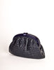 Bottega Veneta Vintage Intrecciato Navy Blue Woven Leather Clutch Bag - Amarcord Vintage Fashion  - 2