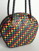 Bottega Veneta Vintage Intrecciato Multicolor Woven Leather Shoulder Bag - Amarcord Vintage Fashion  - 5