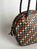 Bottega Veneta Vintage Intrecciato Multicolor Woven Leather Shoulder Bag - Amarcord Vintage Fashion  - 9