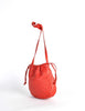 Bottega Veneta Vintage Intrecciato Red Woven Leather Drawstring Bag - Amarcord Vintage Fashion  - 3