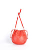 Bottega Veneta Vintage Intrecciato Red Woven Leather Drawstring Bag - Amarcord Vintage Fashion  - 4