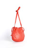 Bottega Veneta Vintage Intrecciato Red Woven Leather Drawstring Bag - Amarcord Vintage Fashion  - 5
