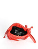 Bottega Veneta Vintage Intrecciato Red Woven Leather Drawstring Bag - Amarcord Vintage Fashion  - 7