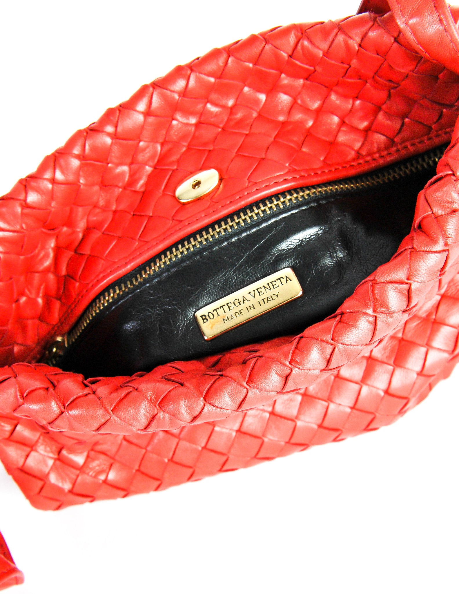 33a02a1fcf Bottega Veneta Vintage Intrecciato Red Woven Leather Drawstring Bag -  Amarcord Vintage Fashion - 8