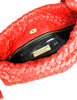 Bottega Veneta Vintage Intrecciato Red Woven Leather Drawstring Bag - Amarcord Vintage Fashion  - 8