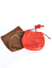 Bottega Veneta Vintage Intrecciato Red Woven Leather Drawstring Bag - Amarcord Vintage Fashion  - 6