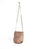 Bottega Veneta Vintage Intrecciato Mushroom Brown Woven Leather Crossbody Bag - Amarcord Vintage Fashion  - 3