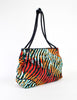 Bottega Veneta Vintage Colorful Striped Terry Cloth Bag - Amarcord Vintage Fashion  - 2