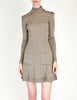 Byblos Vintage Brown Embroidered Sweater Dress - Amarcord Vintage Fashion  - 2