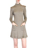 Byblos Vintage Brown Embroidered Sweater Dress - Amarcord Vintage Fashion  - 1
