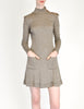 Byblos Vintage Brown Embroidered Sweater Dress - Amarcord Vintage Fashion  - 3
