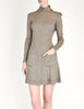 Byblos Vintage Brown Embroidered Sweater Dress - Amarcord Vintage Fashion  - 4