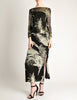 Celine Vintage Black Sheer Silk Embroidered Fuzzy Gold Tinsel Dress - Amarcord Vintage Fashion  - 4