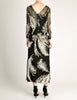 Celine Vintage Black Sheer Silk Embroidered Fuzzy Gold Tinsel Dress - Amarcord Vintage Fashion  - 9