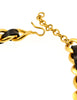 Chanel Vintage Gold Chain & Black Leather ID Tag Nameplate Choker Necklace - Amarcord Vintage Fashion  - 9