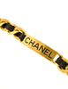 Chanel Vintage Gold Chain & Black Leather ID Tag Nameplate Choker Necklace - Amarcord Vintage Fashion  - 3