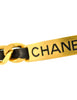 Chanel Vintage Gold Chain & Black Leather ID Tag Nameplate Choker Necklace - Amarcord Vintage Fashion  - 5