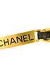 Chanel Vintage Gold Chain & Black Leather ID Tag Nameplate Choker Necklace - Amarcord Vintage Fashion  - 6