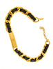 Chanel Vintage Gold Chain & Black Leather ID Tag Nameplate Choker Necklace - Amarcord Vintage Fashion  - 7